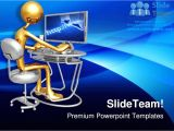 Powerpoint Templates Computer theme Work Station Monitor Computer Powerpoint Templates themes