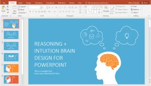 Powerpoint theme Vs Template Left Brain Vs Right Brain Powerpoint Template