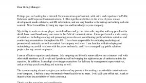 Pr Covering Letter Cover Letter for Pr Internship the Letter Sample