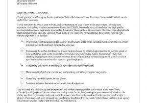Pr Covering Letter Public Relations Letters Cover Letter Samples Cover