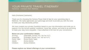 Pre Arrival Email Template Hotel Pre Arrival Confirmation Email Templates