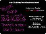 Pre Cut Sticky Flock Templates Pre Cut Rhinestone Flock Template 2 Sizes Move Over