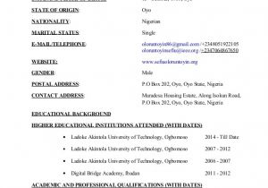 Pre Primary School Teacher Resume Sample Sefiu Taiwo Oloruntoyin Cv