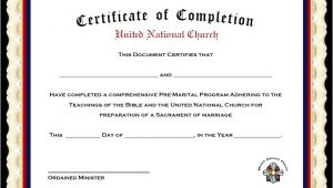 Premarital Counseling Certificate Of Completion Template Marriage Counseling Certificate Of Completion Template