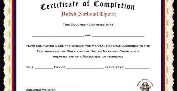 Premarital Counseling Certificate Of Completion Template Marriage Counseling Certificate Of Completion Template