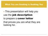 Preparing A Cover Letter for Job Prepare A Cover Letter Using A Job Description