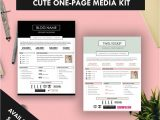 Press Pack Template Cute One Page Media Kit Template Press Kit Pastel Black
