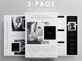 Press Packet Template Dapper Three Page Media Kit Template Diy Media Kit