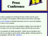 Press Release Brief Template Templates for A Briefing Book Prepared for A Press Conference