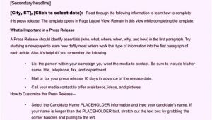 Press Release Calendar Template Free Sample Press Release Template Word