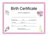 Printable Birth Certificate Template 13 Free Birth Certificate Templates Sampleprintable Com