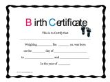 Printable Birth Certificate Template 15 Birth Certificate Templates Word Pdf Free