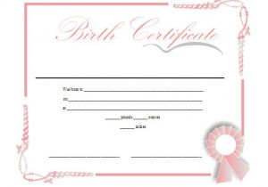 Printable Birth Certificate Template 18 Birth Certificate Templates to Download Sample Templates