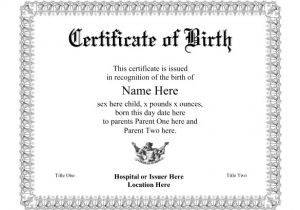 Printable Birth Certificate Template Birth Certificate Template 44 Free Word Pdf Psd