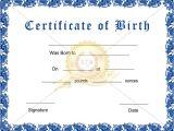 Printable Birth Certificate Template Birth Certificate Template Pdf Blank Certificates