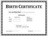 Printable Birth Certificate Template Printable Birth Certificate Template Business