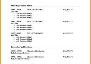 Printable Blank Resume Template Free 10 Resume Template Blank Professional Resume List