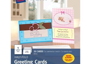 Printable Greeting Card App for Ipad Avery Greeting Cards Inkjet Printers 20 Blank Cards and Envelopes 5 5 X 8 5 Folded 3265
