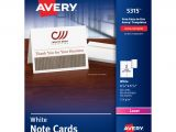 Printable Greeting Card App for Ipad Avery Laser Note Cards 4 14 X 5 12 White Box Of 60 Office