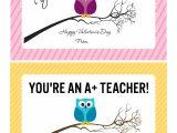 Printable Happy Teachers Day Card Valentines Day Cards for Teachers Vallentine Gift Card