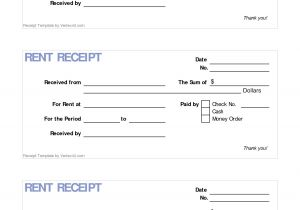 Printable Rent Receipt Template 6 Best Images Of Printable Rent Receipt Template Free