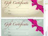 Printable Salon Gift Certificate Templates Free Printable Hair Salon Gift Certificate Template Fresh