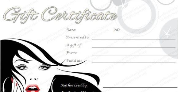 Printable Salon Gift Certificate Templates Printable Spa and Salon Gift Certificate Template