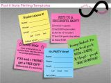 Printing On Post It Notes Template Post It Note Printing Templates Instant by Infinitelymore