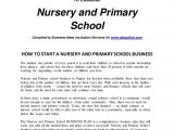 Private School Business Plan Template Intro Nursery and Primary School Business Plan
