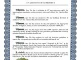 Proclamation Templates San Francisco Recognizes Save the Bay 39 S 50th Anniversary