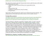 Procurement Contract Award Template Procurement Management Plan