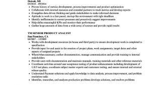Product Analyst Resume Sample Senior Product Analyst Resume Samples Velvet Jobs