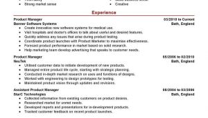 Product Manager Resume Sample Best Product Manager Resume Example Livecareer