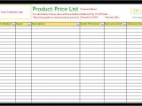 Product Price List Template with Pictures Product Price List Template Standard Dotxes
