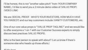 Product Sales Email Template 11 Awesome Cold Email Templates and why they Work Leadgibbon