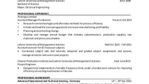 Production Engineer Resume Doc Subayyal Najeeb Manufacturing Engineer Resume 39