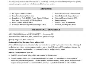 Production Engineer Resume Pdf Sample Resume for A Midlevel Quality Engineer Monster Com