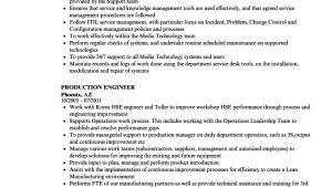 Production Engineer Resume Production Engineer Resume Samples Velvet Jobs