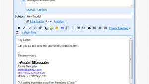 Professional Email Templates for Gmail 29 Gmail Signature Templates Samples Examples format