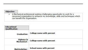 Professional Fresher Resume format 10 Fresher Resume Templates Download Pdf