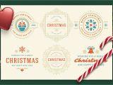 Professional Happy New Year Card Christmas Retro Design Bundle Affiliate Photoshop