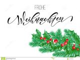 Professional Holiday Greeting Card Messages Frohe Weihnachten German Merry Christmas Calligraphy Font On