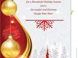 Professional Holiday Greeting Card Messages New Year Corporate Greeting Card Stock Illustration