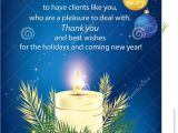 Professional Holiday Greeting Card Messages Thank You Blue Business Greeting Card Stock Illustration
