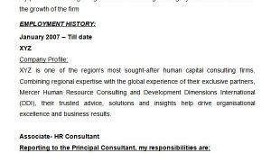 Professional Hr Consultant Resume 26 Hr Resume Templates Doc Free Premium Templates