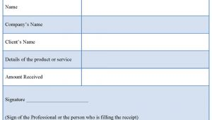 Professional Receipts Templates Professional Receipt Template format format Of