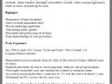Professional Resume Samples Free Online Resume Samples From Myperfectresume Com