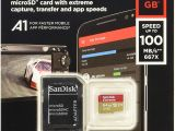 Professional Ultra Sandisk 64gb Microsdxc Card Sandisk Extreme 64 Gb Microsdxc Speicherkarte Sd Adapter Bis Zu 100 Mb Sek Gold Rot Class 10 U3 V30 A1