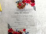 Professional Wedding Invitation Card Design 2018 Luxury Custom Colorful Printing Clear Acrylic Card