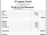 Profits and Losses Template Printable Profit and Loss Statement format Excel Word Pdf